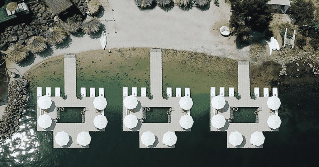 piattaforme balneari per multi ombrelloni